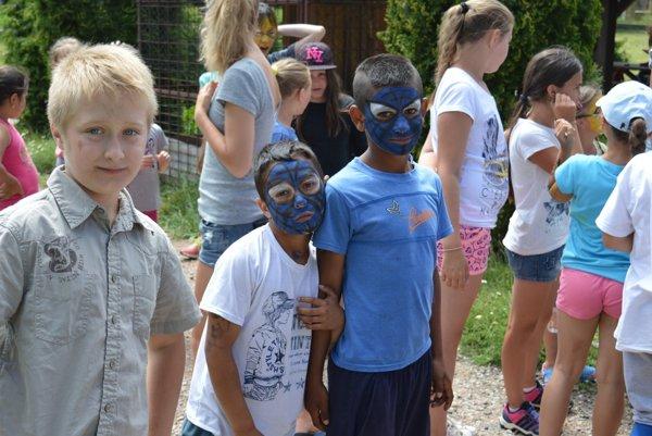 Denný tábor v Hrabušiciach prebehol od 3. do 9. júla. Obľúbenou zábavou bola maľba na tvár.
