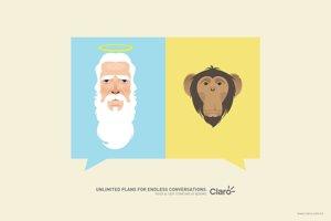 Z Adama či z opice? Diskutujte do nekonečna, láka vynikajúci print honduraského operátora.