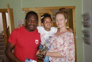 Gabriel Kamdem s rodinou.