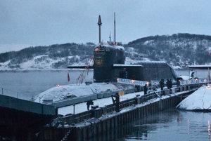 Atómová ponorka v Murmansku.