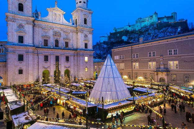Vianočné trhy v Salzburgu.