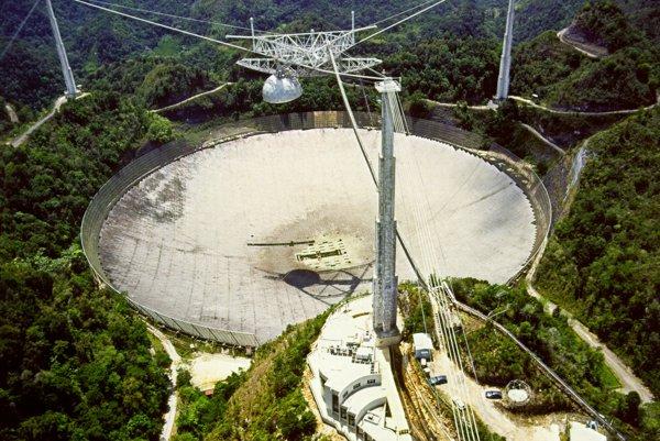 Rádioastronomické observatórium Arecibo.