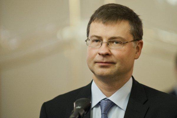Podpredseda Európskej komisie Valdis Dombrovskis.