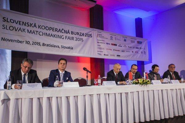 Z otvorenia medzinárodného business-to-business podujatia Slovenskej kooperačnej burzy 2015 v Bratislave.