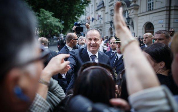 Andrej Kiska je populárny prezident. FOTO SME - TOMÁŠ BENEDIKOVIČ
