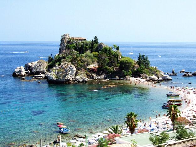 Pobrežie na Sicílii, Taliansko.