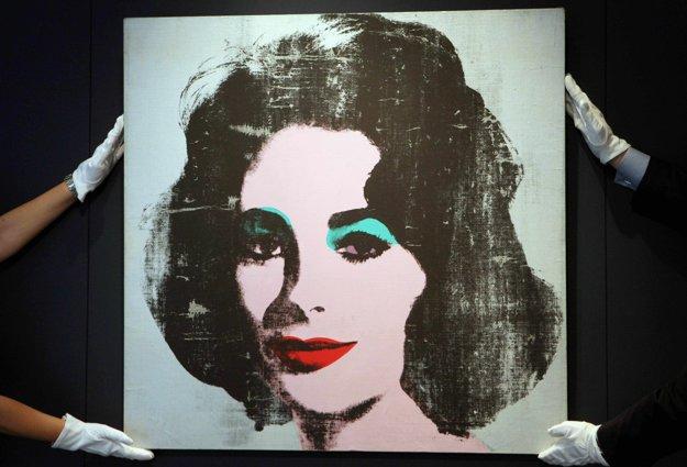 Obraz Strieborná Liz. Portrét herečky Elizabeth Taylorovej z dielne Andyho Warhola.