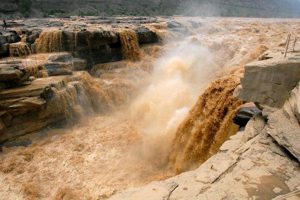 Vodopád Hukou, Žltá rieka
