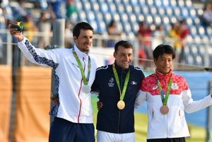 Matej Beňuš (vľavo) získal v Riu striebornú medailu.