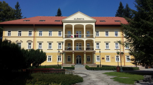 Obnovený hotel Alžbeta v Bardejovských kúpeľoch.