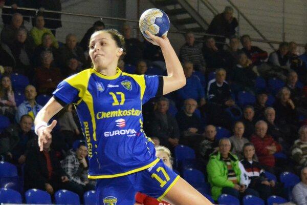 Ukrajinské krídlo. Jevgenija Levchenková dala vRumunsku 13 gólov.