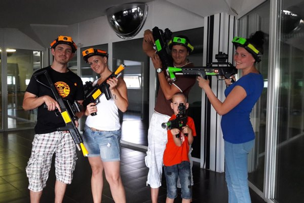 V ChillPoint laser aréne sa zabavia všetci bez ohľadu na vek.