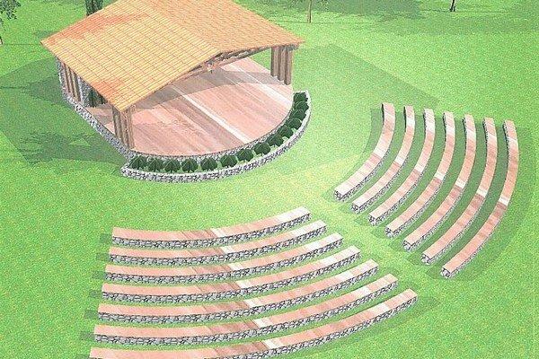 Amfiteáter by chceli postaviť za dedinou v smere do Dolného Kubína.