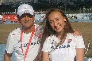 Gabriela Gajanova atréner Pavel Slouka.