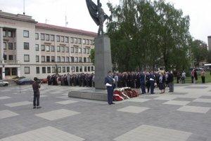 Povstanie si pripomenuli tradične pri Pamätníku osloboditeľov.