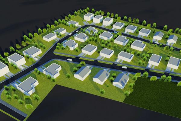 Ako by to malo vyzerať. Zámerom je postaviť atraktívnu štvrť rodinných domov so záhradkami, dostupných mladým rodinám.
