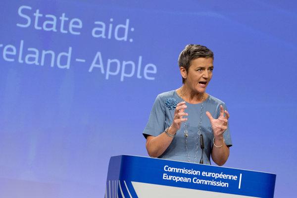 Komisárka EÚ pre hospodársku súťaž Margrethe Vestagerová.