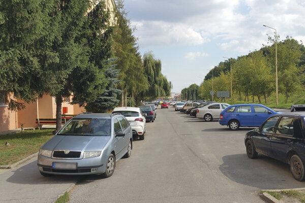 Parkovanie v Rimavskej Sobote.