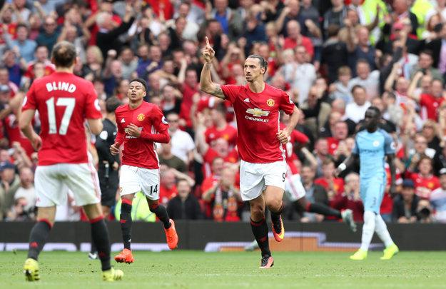 Jediný gól United dal Zlatan Ibrahimovič (vpravo).