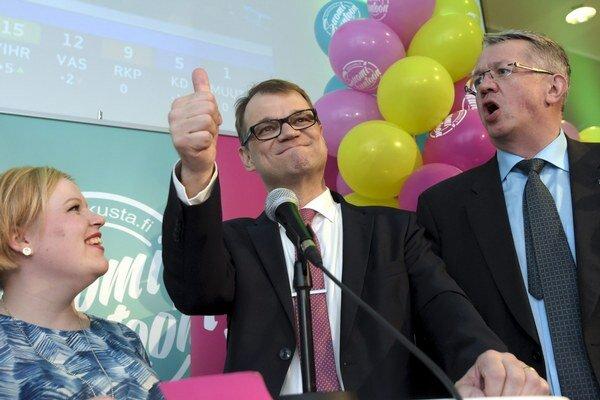 Šéf fínskej opozičnej Strany stredu Juha Sipilä.