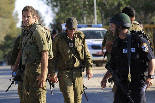 Izraelskí zálohoví vojaci.