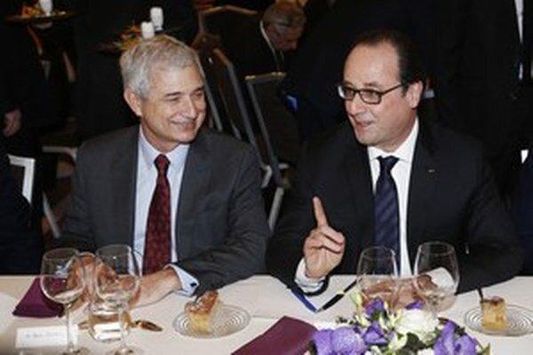 Prezident Hollande na večeri Rady francúzskych židovských inštitúcií.