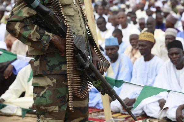 Nigérijský vojak.