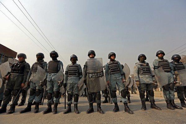 Afgánska polícia.