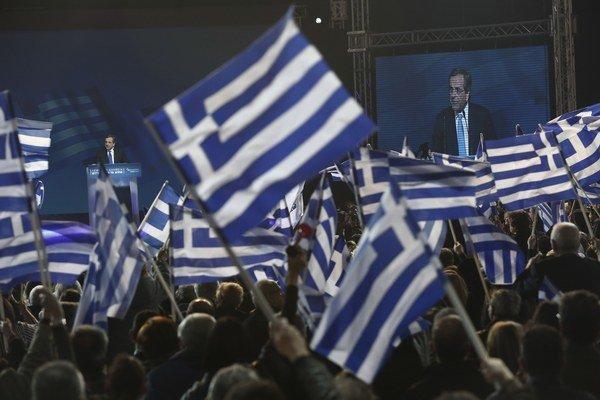 Predvolebná kampaň v Grécku.