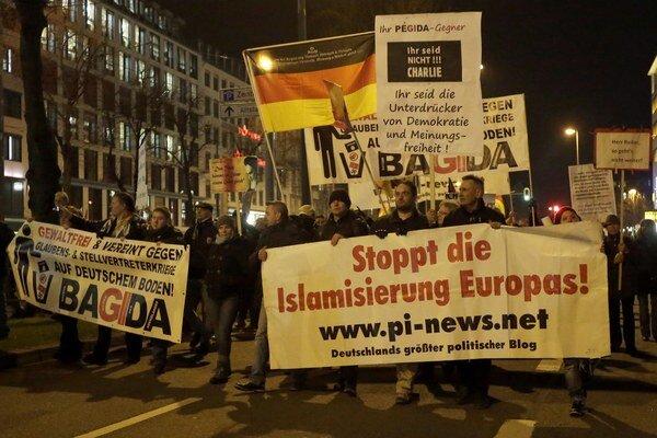 Protiislamské protesty v Nemecku.