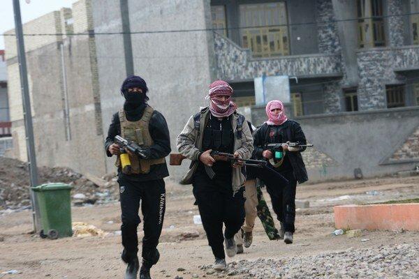 Ozbrojenci v irackej Fallúdži.