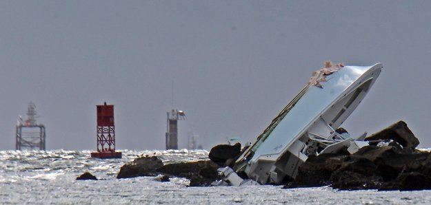 Loď, na ktorej sa plavil mladý nadhadzovač.