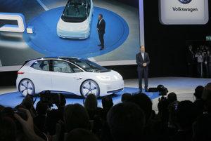 Nový koncept elektrického auta Volkswagenu, ktorý automobilka ukázala na parížskom autosalóne.