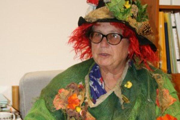 Vítězslava Klimtová prišla oblečená ako čarodejnica.