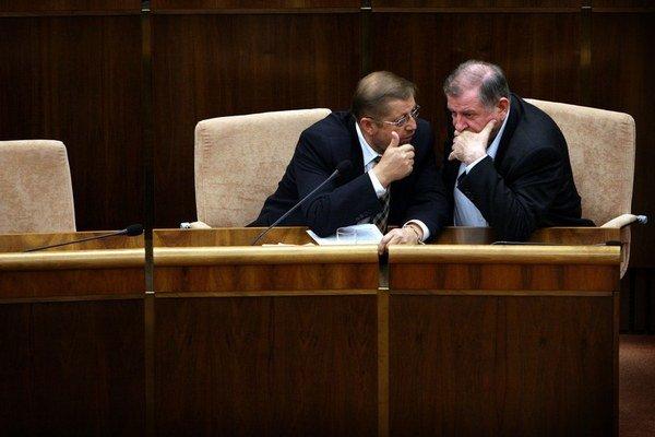 Štefan Harabin a Vladimír Mečiar.