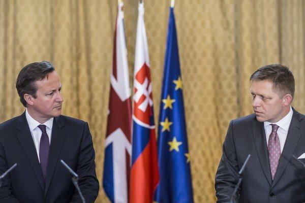 David Cameron a Robert Fico.
