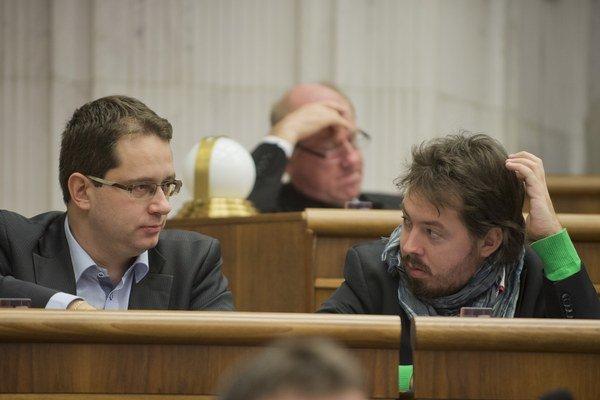 Anton Martvoň (vľavo), Otto Brixi (vpravo).