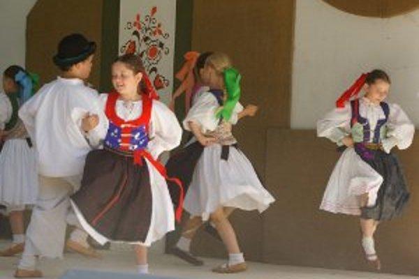 Počas slávností vystúpilo aj viacero detských folklórnych súborov.