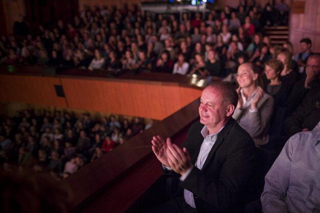 Na koncerte tlieskal aj Andrej Kiska.