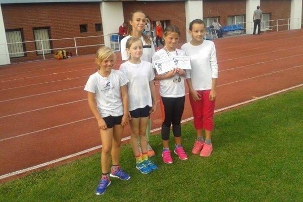 Dievčatá z Atletického klubu Čadca.