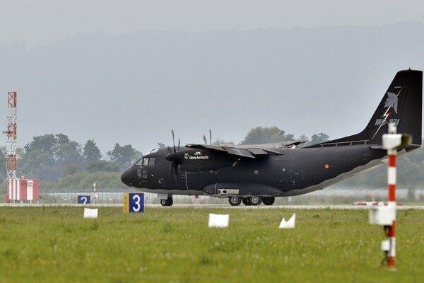 Talianske lietadlo typu Spartan, konkrétne typ C-27J.