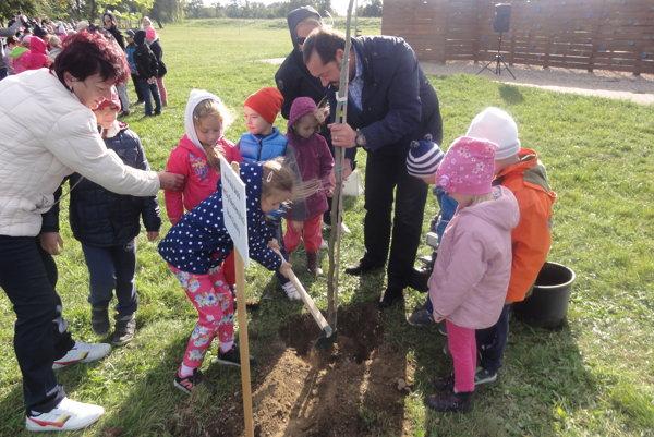 Deti sa zúčastnili sa krásneho projektu. Vysadili 17 zelených stromčekov pre všetkých obyvateľov mesta inasledujúce generácie.