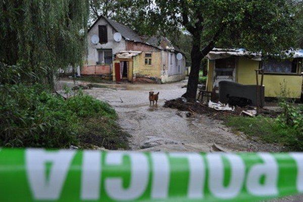 V sobotu zasiahli povodne aj obec Prašník.