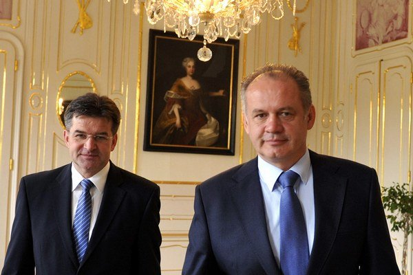 Prezident Andrej Kiska a minister zahraničných vecí Miroslav Lajčák.
