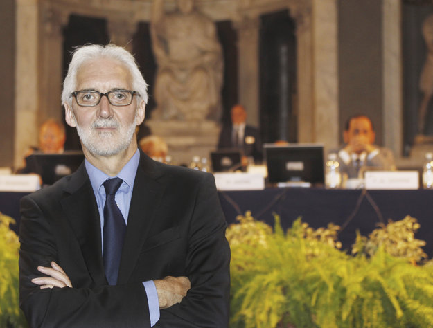 Brian Cookson sa stal prezidentom Svetovej cyklistickej únie v septembri 2013.