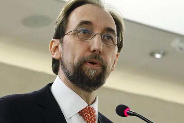 Vysoký komisár OSN pre ľudské práva Zeid Raád al Husajn.
