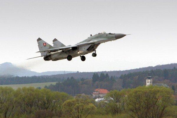 Slovenská stíhačka MiG29 ruskej výroby.