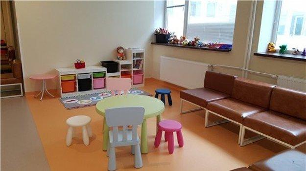 Detský kútik a hračky.
