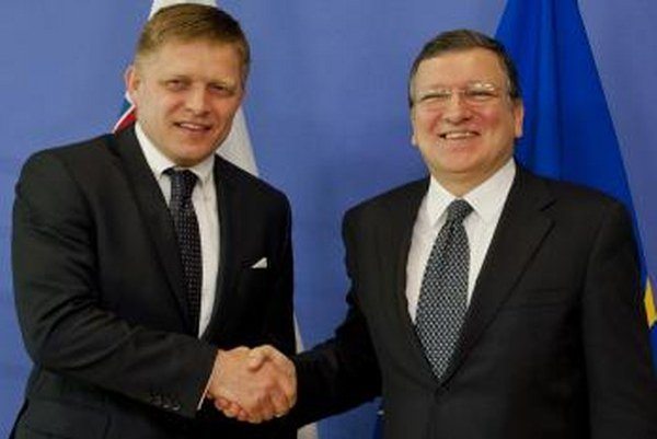 Robert Fico a José Manuel Barroso.