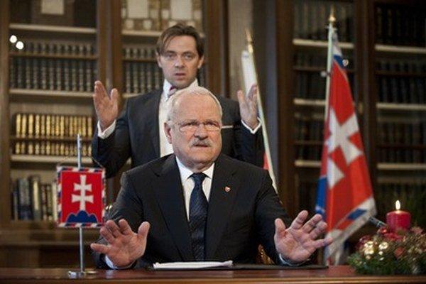Prezident Ivan Gašparovič a jeho hovorca Marek Trubač.